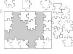 Gioco Puzzle Bianco
