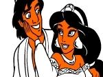 Gioca gratis a Colora Aladdin e Jasmine