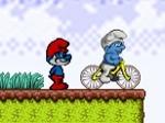 Gioca gratis a Puffi in bicicletta