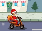 Gioca gratis a Babbo Natale in scooter
