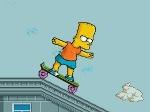 Gioco Bart sullo skate