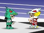 Gioca gratis a Pegasus contro Sirio il Dragone