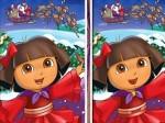 Gioca gratis a Dora Natalizia: trova le differenze